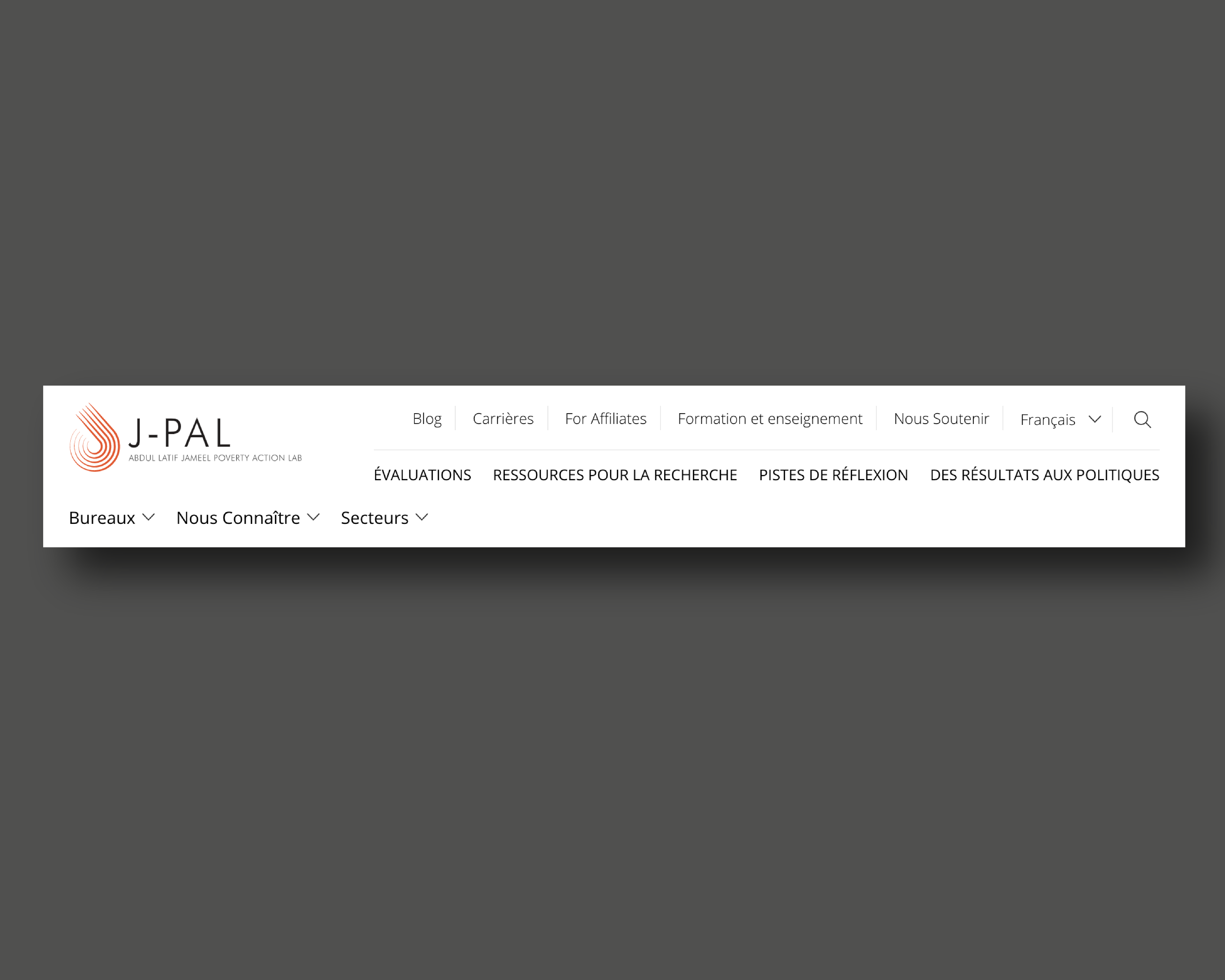 J-PAL header in French