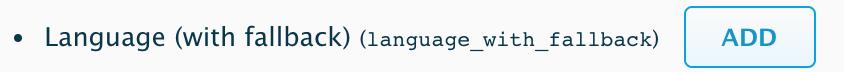 """""""Language (with fallback), Add"""""""