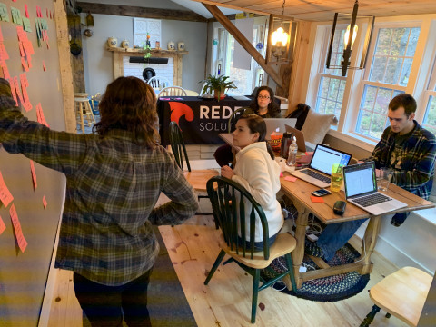 The Redfin team rebuilds the website to reflect the new brand.